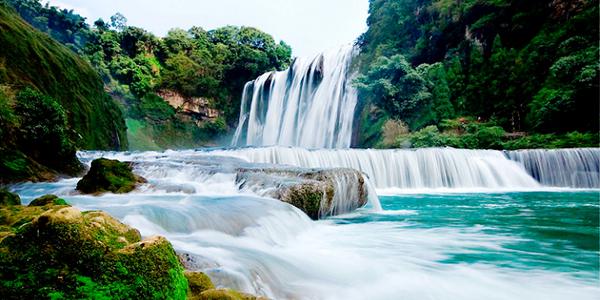 壁纸 风景 旅游 瀑布 山水 桌面 600_300