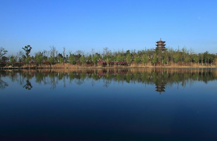 新乡市平原公园风景图